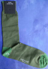 Hackett Mayfair London Mens Silk Socks Size ML Large Hackett Logo Green HMU50249