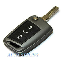 Carbon Grey Key Cover For Skoda Octavia 3 III MK3 Case Remote Fob Protector 40