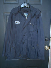 NWT NEW MENS Polo Ralph Lauren Hooded Trench Coat Jacket Nylon NAVY BLUE MEDIUM