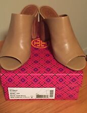 NIB TORY BURCH RAYA 1000M LEATHER MULE SANDAL SIZE 8 - COLOR: SAND RETAIL $350