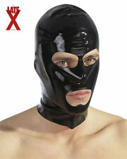 Masque Cagoule Mixte Latex Noir Black  Rubber Hood