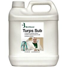 Bird Brand Turpentine Substitute Solvent Paint Brush Surface Cleaner - 4 Litres