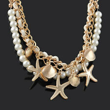 Women's Multilayer Bracelet Shell Starfish Pearl Fashion Lot Delicate