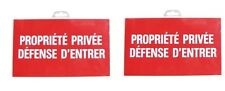 2 PLAQUE PANNEAU SIGNALISATION PROPRIETE PRIVEE DEFENSE D' ENTRER PVC RIGIDE