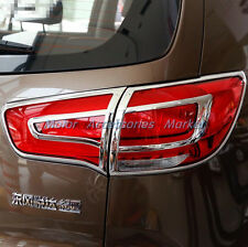 Chrome Rear Tail Light Cover Trim For KIA Sportage 2011 2012 2013 2014 2015