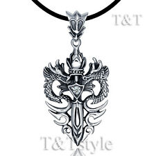 High Quality TTstyle 316L Stainless Steel Dragon Sword Pendant Necklace