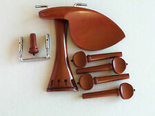 Old Violin Shop Fitting Set Boxwood French Style - WENDLING -  and Black Accents