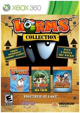 Worms Collection Ultimate Mayhem Armageddon XBOX 360 COMPLETE! Ships from Canada