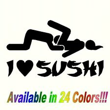 I Love Sushi Decal Funny Car Vinyl Sticker Euro JDM Racing Window Decal