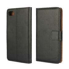 Flip Genuine Leather Card Slot Wallet Phone Stand Cover Cases For BlackBerry Z30