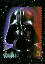 STAR WARS, DARTH VADER, USPS JUMBO STAMP IMAGE POSTCARD & FDC