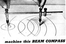 You Make Machine Turned Beam Compass Draws Accurate Circles Draft Draw #241