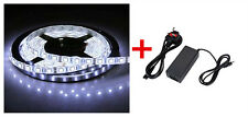 24V 5M Cool White SMD5050 LEDsx300 Strip Tape Light+Power Adapter Waterproof