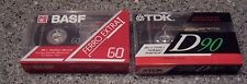 Lot of Two SEALED CASSETTES TDK-90 AND BASF-60 FERRO EXTRA