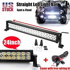 24Inch 120w Led Lgiht Bar Flood Spot ATV Work Lamp Offroad Fog Jeep Car Truck 20