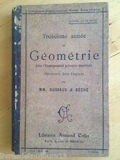 Troisième Année De Géométrie Dans L'enseignement Primaire Supérieur