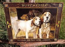Winchester Hounds For Sale Here Sign Tin Vintage Garage Bar Decor Old Rustic