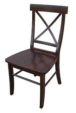 Whitewood X-Back Chair - w/solid wood seat Java C15-613P Chair NEW