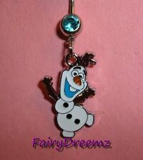 Disney FROZEN Dancing OLAF Belly Ring-US Seller