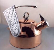 CHANTAL COPPER  KETTLE  Mit Quilted Handle Cover 1.,8 Qt.  NEW