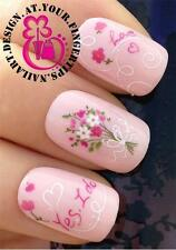 NAIL ART WATER TRANSFERS STICKERS DECALS MARRIAGE PROPOSAL BRIDAL YES I DO #411