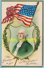 PATRIOTIC~George Washington~INTERNATIONAL ART~Postcard