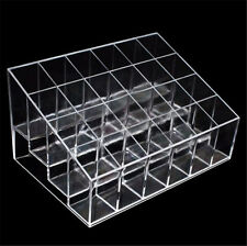 24 Clear Acrylic Cosmetic Display Stand Makeup Lipstick Holder Women Xmas Gift