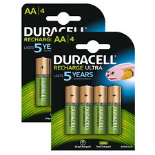8 X Duracell Duralock AA 2500mAh Batteries Rechargeable Ultra LR6 NiMH Battery