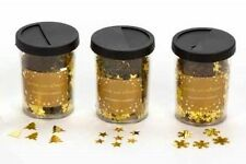 3 x Christmas Luxury Table Confetti Scatter Gold Stars/Snowflakes/Xmas Trees