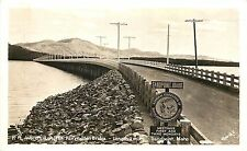 Unposted 1930-50 Real Photo PC Worlds Largest Wooden Bridge 2 Miles Sandpoint ID