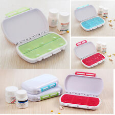 6 Day Holder Weekly Medicine Storage Organizer Case Container Tablet Pill Box