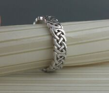 14K White Gold Celtic Knot Wedding Ring Size 12 Made in Ireland by FADO