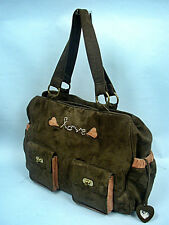 Wendy Bellissimo Chocolate Love Faux Suede Diaper Bag With Tag - Retail $80.00