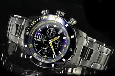 Invicta Mens II Collection Swiss Chronograph Blue Dial Stainless Steel Watch NEW