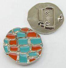 Fermoir / Boucle de ceinture 3 cm argent Emaille 05.07/223