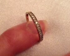 Lovely Ladies 9ct Yellow Gold Natural Diamonds Half Eternity Ring. Size P 1/2