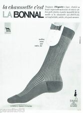 PUBLICITE ADVERTISING 116  1965   les chaussettes homme La Bonnal