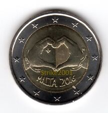 "NEW !!! 2 EURO COMMEMORATIVO MALTA 2016 ""Solidarietà e Amore NEW !!!"