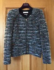 BNWT Isabel Marant Etoile Momo Blue Tweed Boucle Virgin Wool Shoulder Pad Jacket