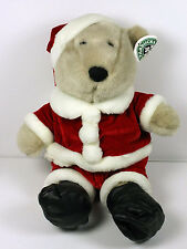 Starbucks Plush Teddy Bearista Christmas Santa Costume w Partial Tag