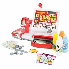 Infantastic Toy Cash Register with Scanner Kids Pretend Shop Supermarket Play