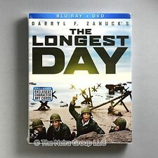 The Longest Day Blu-ray + DVD New John Wayne, Robert Mitchum, Henry Fonda