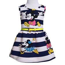 Kids Baby Girls Mickey Minnie Mouse Party Dress Vest Skirt Toddler Tops Clothes