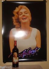 Marilyn Monroe Merlot 2003 Cabernet Napa Red Wine New Sealed Mint 22 x 30 Poster