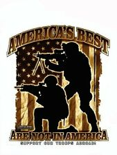 AMERICA'S BEST Support Our Troops Abroad! VINYL STICKER/DECAL Art by 7.62 Design
