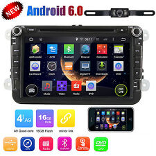 "8"" Android 6.0 Car DVD Stereo For VW GPS Navi Stereo Wifi 3G  BT Radio + Camera"