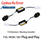 2 x LED WARNING CANCELLER 501 T10 W5W WEDGE NO CANBUS OBC ERROR LOAD RESISTOR .
