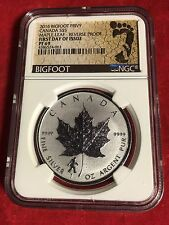 2016 BIGFOOT PRIVY PF 69 NGC GRADED CANADIAN MAPLE LEAF 1 Oz Silver Coin