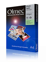 2 x Olmec 240gsm Photo Satin Inkjet Paper A4/50 Sheets OLM64A4 - 100 A4 Sheets