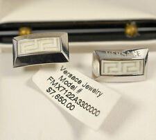 $7,650 Versace DV ONE 18K WHITE GOLD Cufflinks Men Business Holiday Gift NEW Box